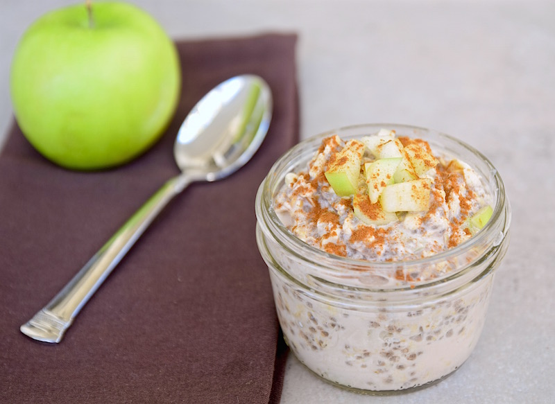 Apple Spiced Overnight Oats | TastingPage.com