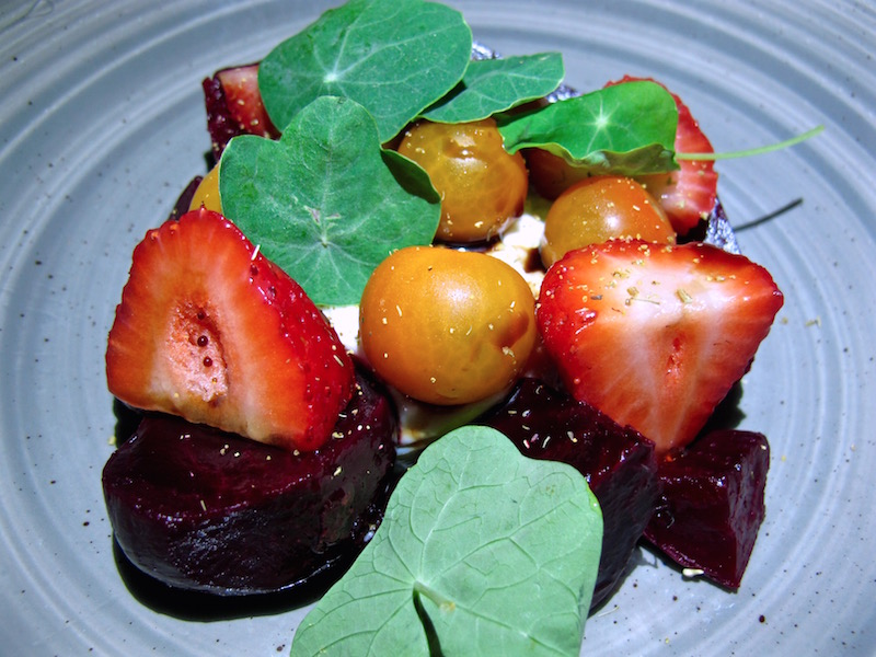 Salt Marina del Rey beets and burrata