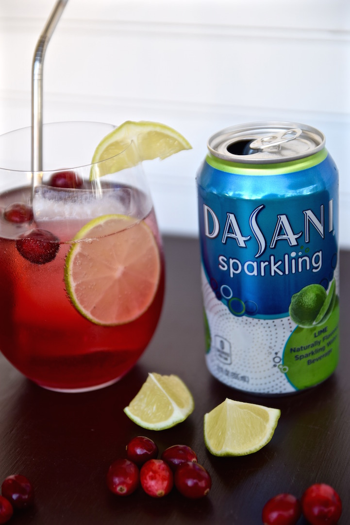 Cranberry Lime Sparkling Drink