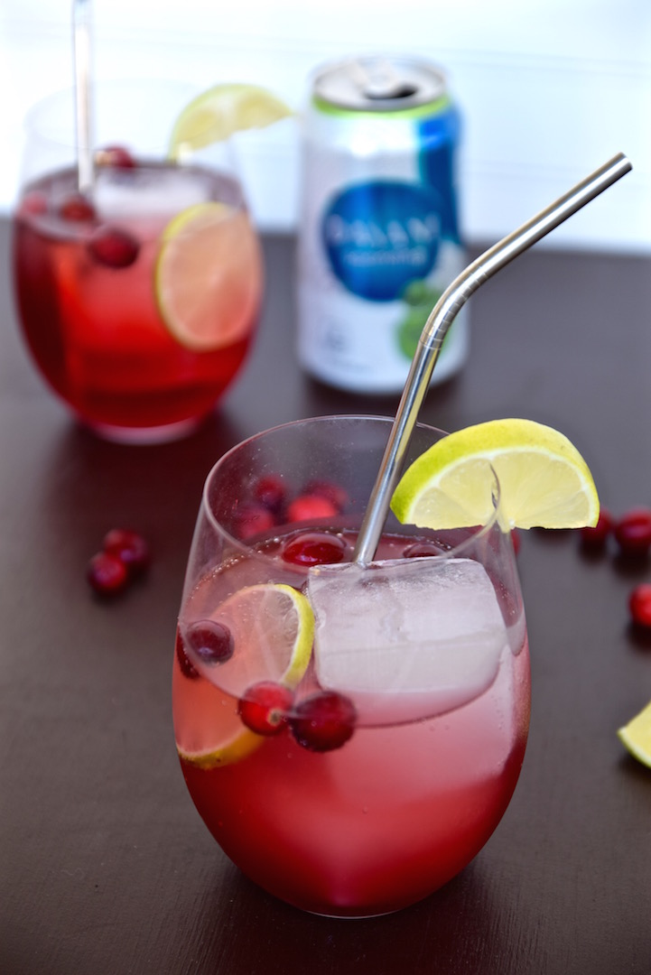 Cranberry Lime Holiday Cocktail | TastingPage.com