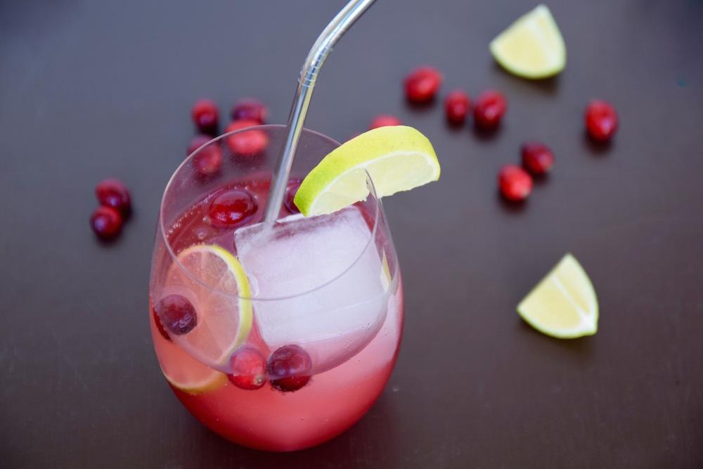 Cranberry Lime Sparkling Drink | TastingPage.com