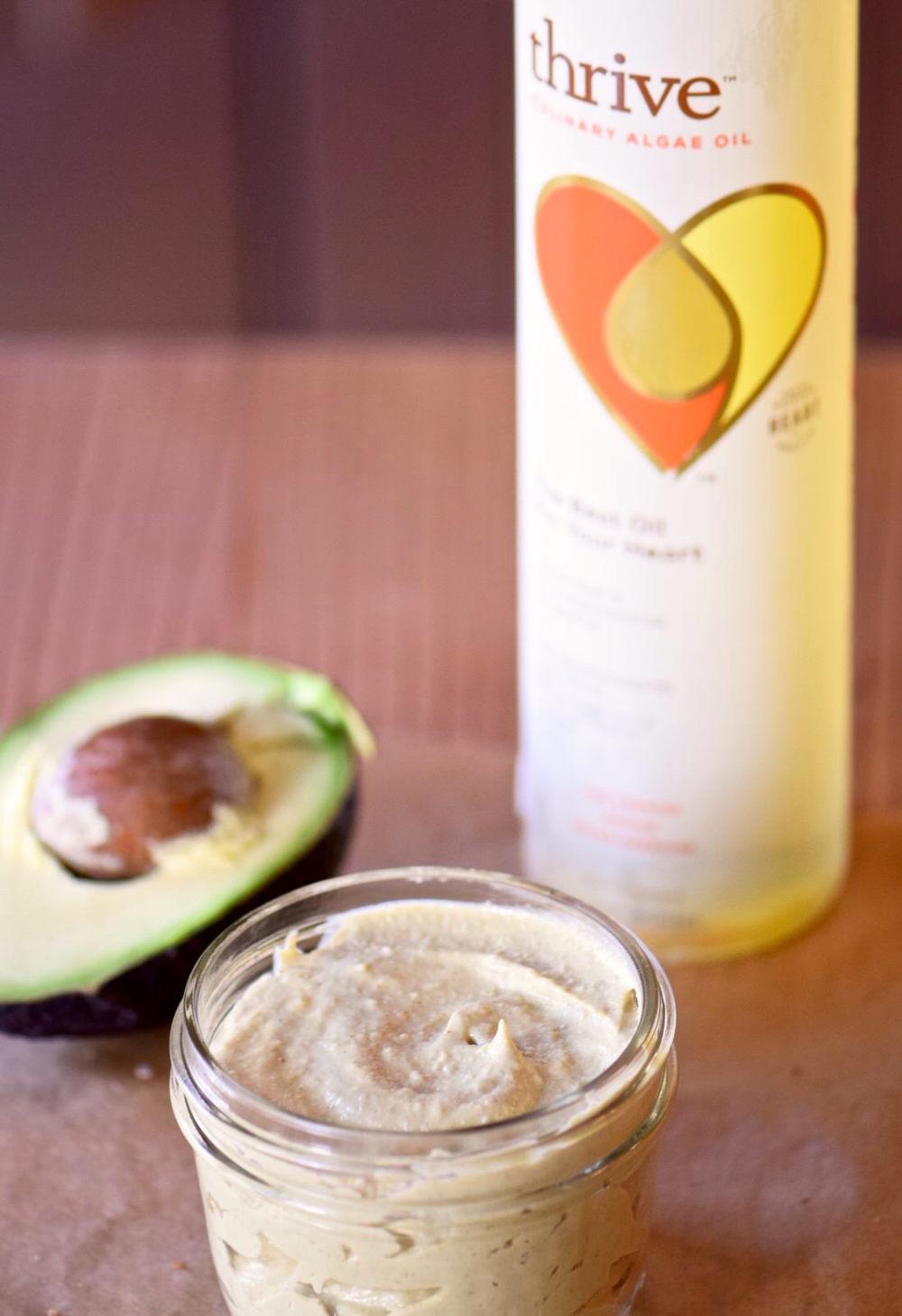 Avocado Tahini Sauce with Thrive Algae Oil