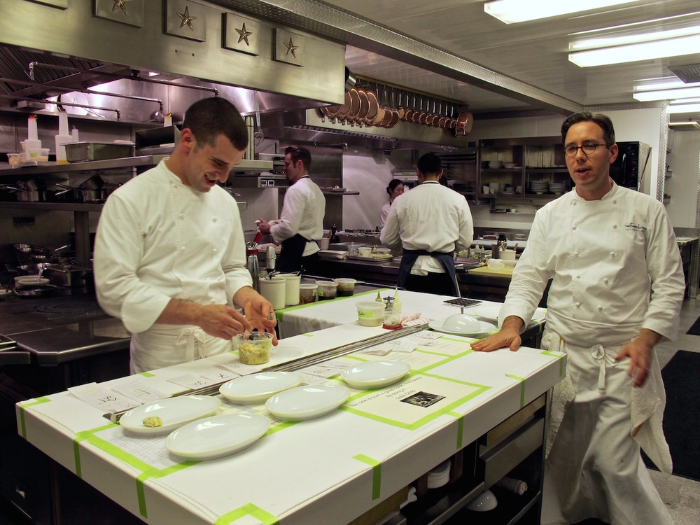 French laundry working kitchen