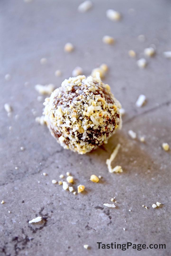 Raw Cacao Coconut Cashew Balls | TastingPage.com