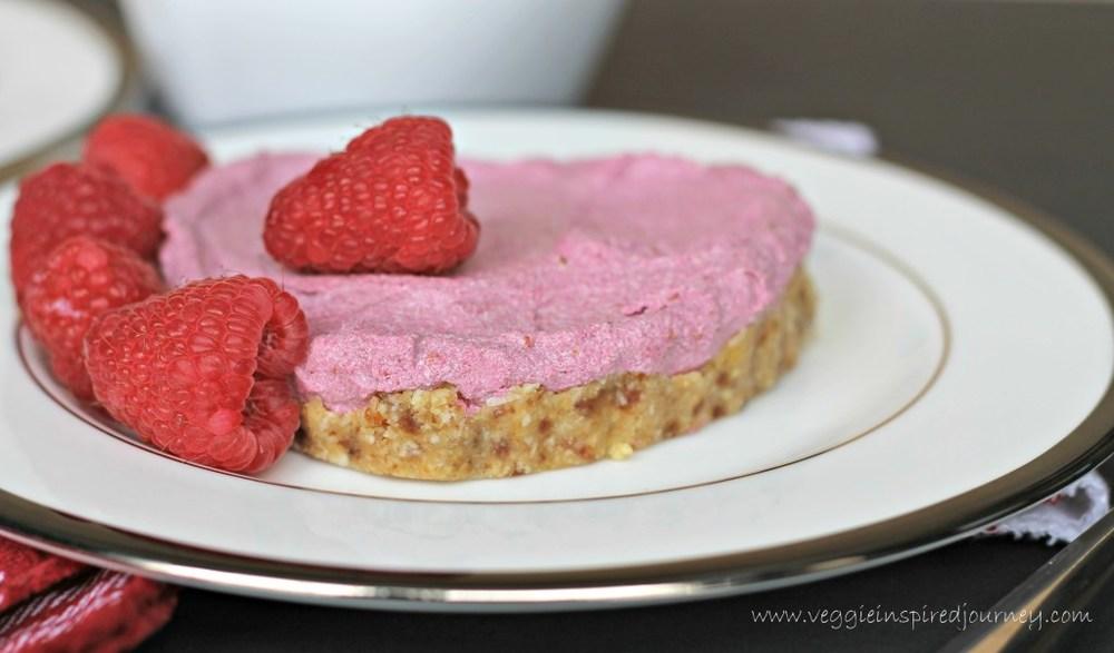 No Bake Vegan Raspberry Tartlets for Two