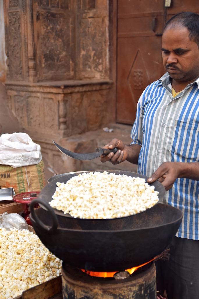 Popcorn in Delhi Market