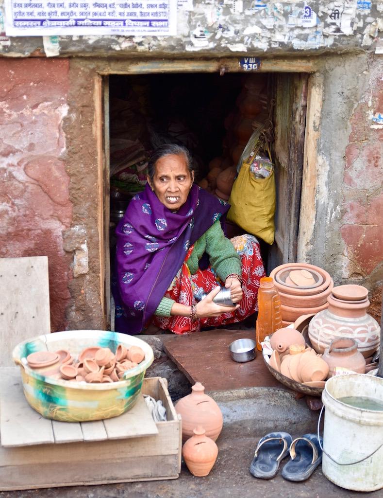 Delhi market vendor