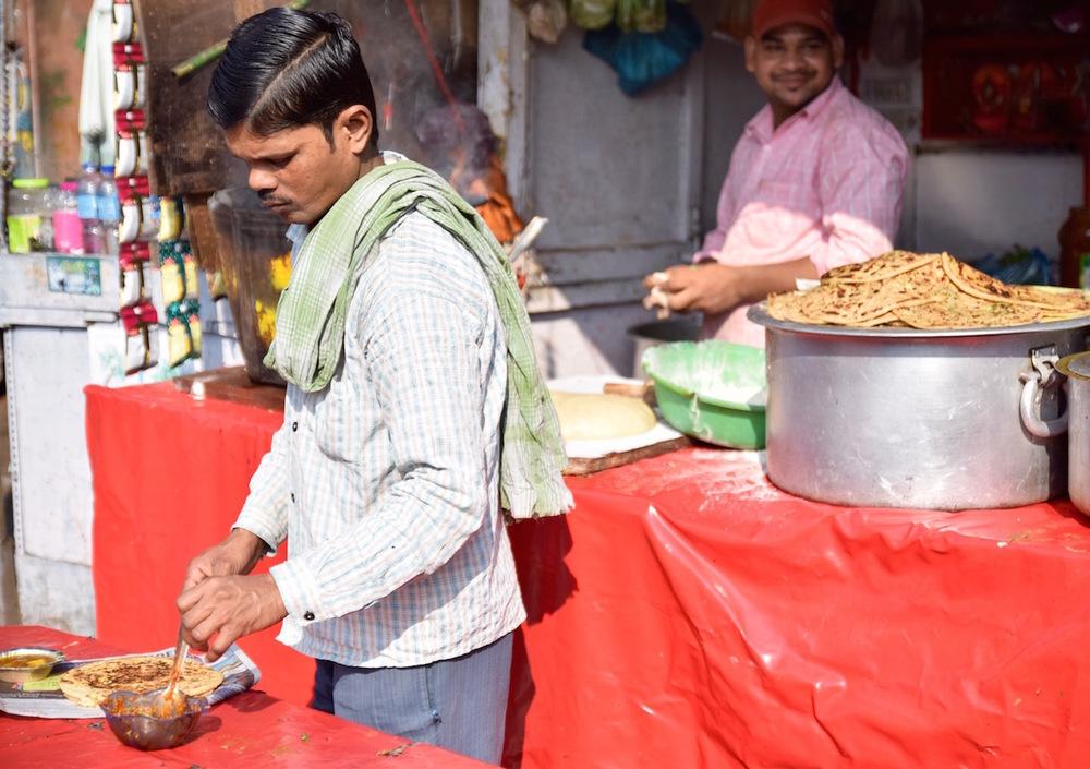 Delhi market bread