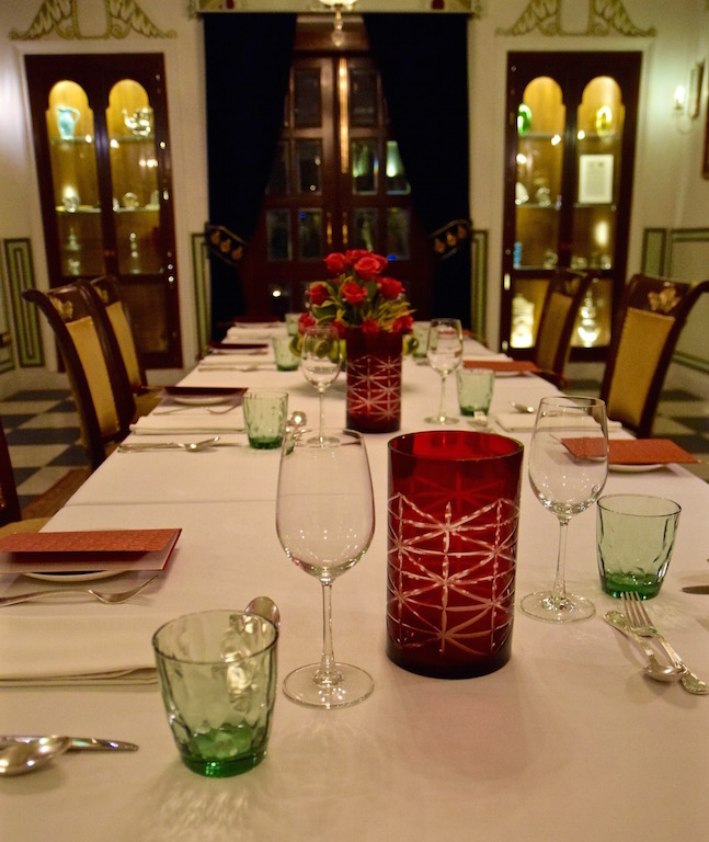 Samode Haveli Jaipur dining room