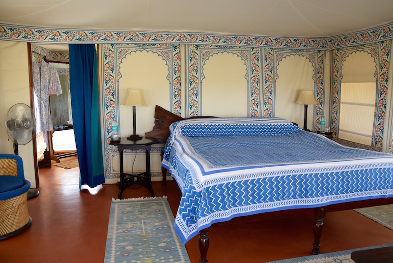 Chhatra Sagar India tent bedroom