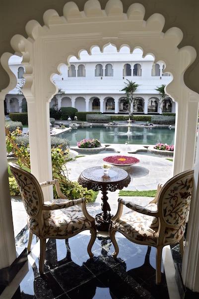 Taj Lake Palace Udaipur sitting area