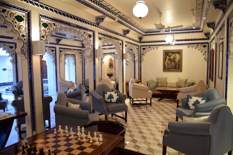 Taj Lake Palace Udaipur sitting areas