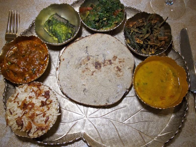 Taj Lake Palace Udaipur thali