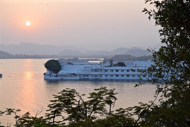 Taj Lake Palace Udaipur sunset