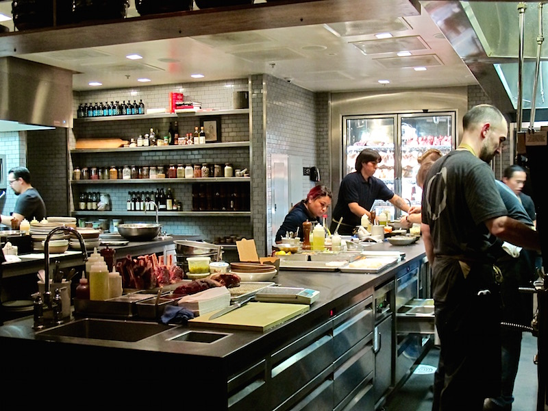 Otium LA open kitchen
