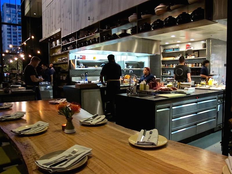 Otium's open kitchen