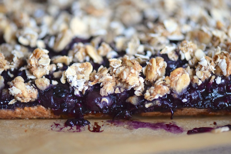Vegan Blueberry Oat Bars | TastingPage.com