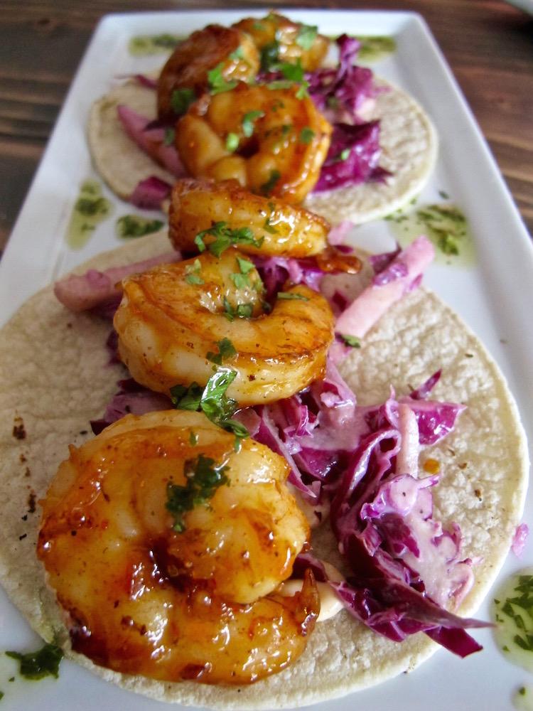 Detour shrimp tacos
