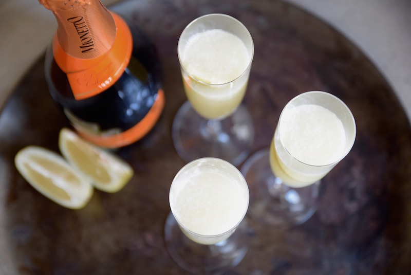 Grapefruit Lime Mimosa Cocktail | TastingPage.com