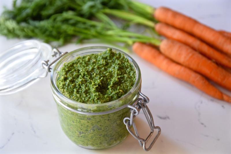 Carrot top mint pesto @TastingPage