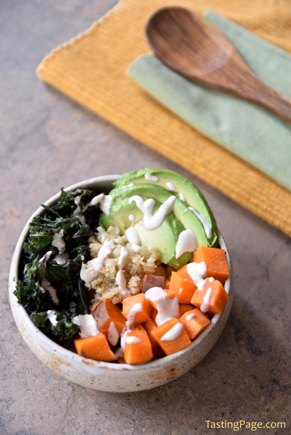 Gluten Free Grain Free Cauliflower Rice Buddha Bowl | TastingPage.com