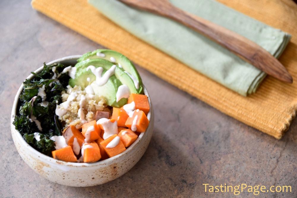 Grain Free Gluten Free Cauliflower Rice Buddha Bowl | TastingPage.com