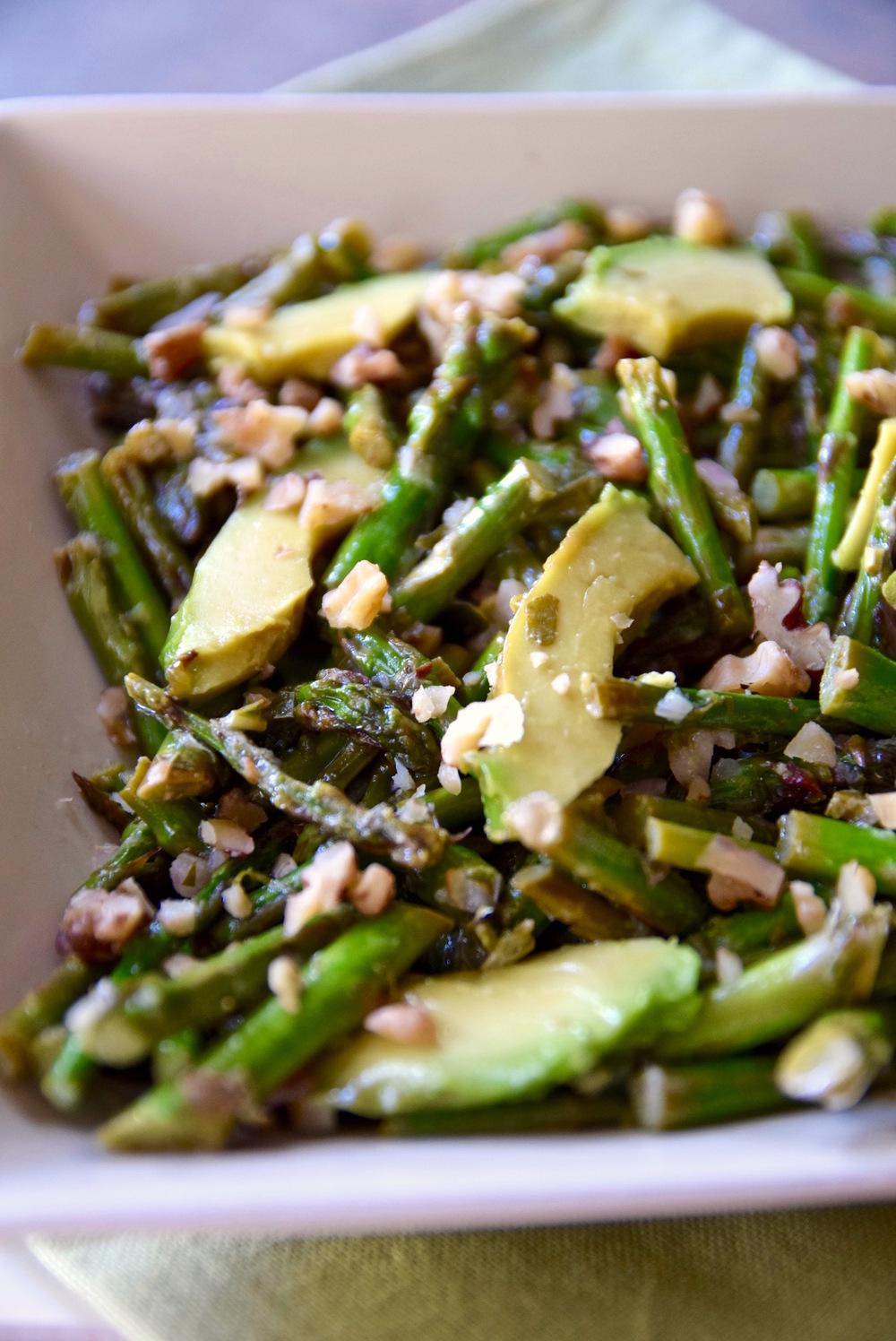 Asparagus Avocado Salad with Walnut Vinaigrette — Tasting Page