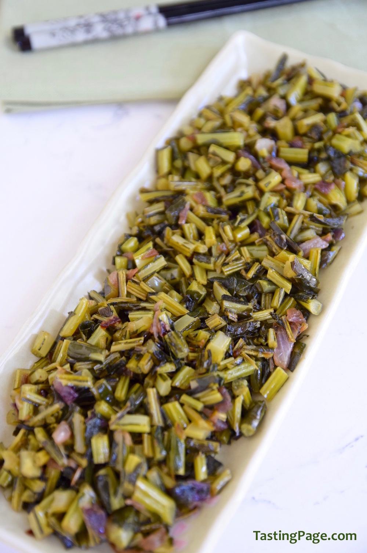 Smoky Sauteed Kale Stems | TastingPage.com