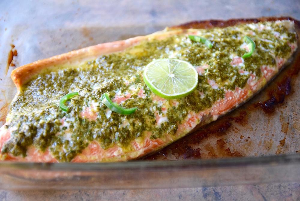 Cilantro Lime Baked Salmon | TastingPage.com