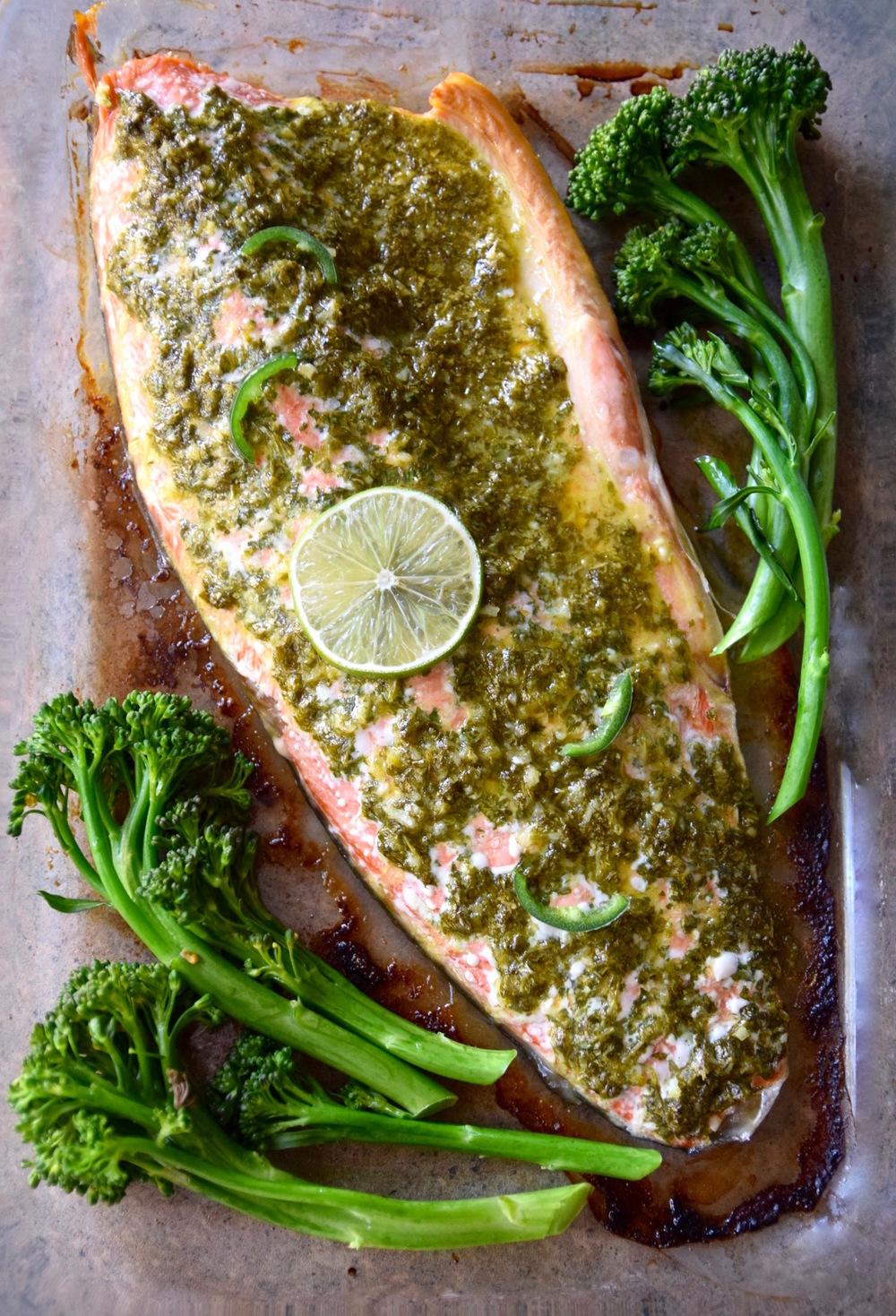 Baked Lime Jalapeno Salmon | TastingPage.com