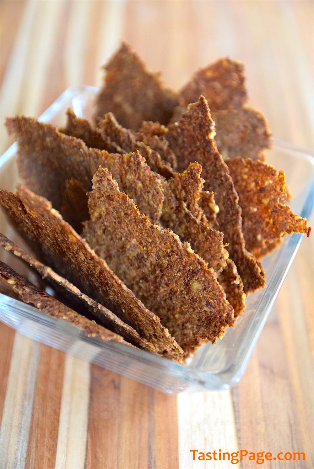 Carrot Pulp Cumin Crackers | TastingPage.com