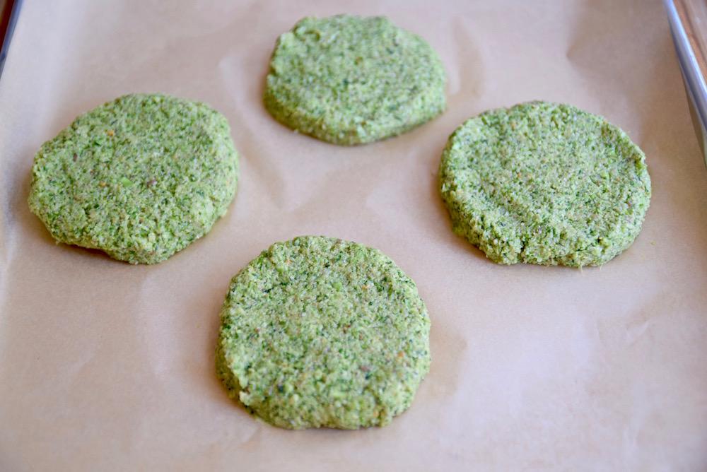 Broccoli turmeric fritters