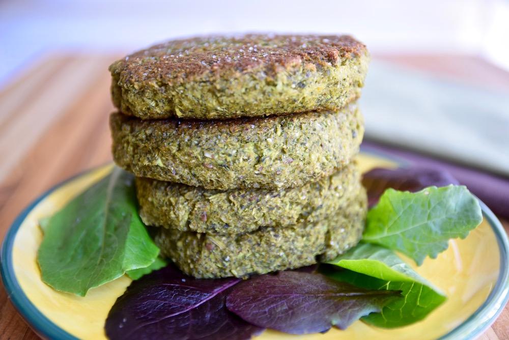 Broccoli Turmeric Fritters - gluten free and vegan | TastingPage.com