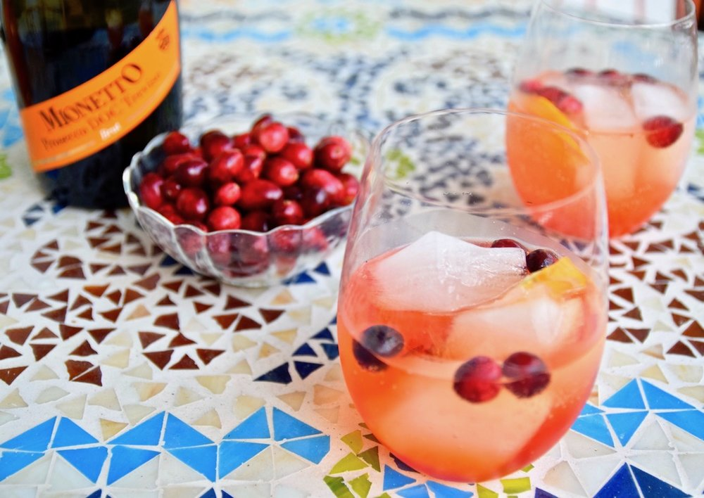 Sparkling Cranberry Aperol Spritz