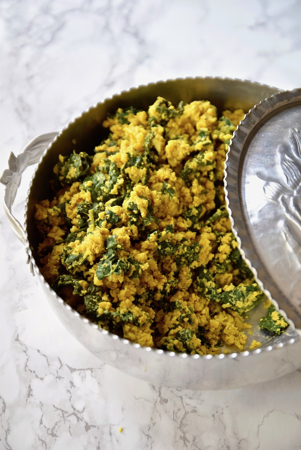 Curried cauliflower kale rice - gluten free, dairy free and vegan | TastingPage.com