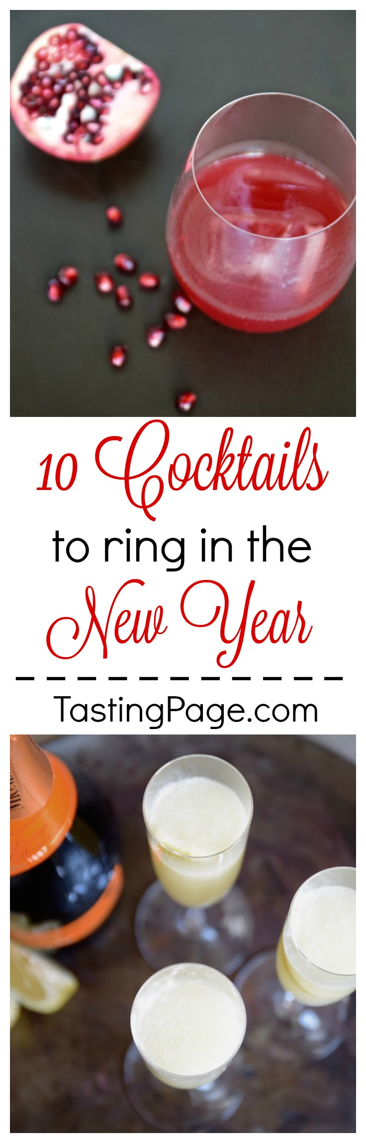 New Year's Cocktails - 10 cocktails to ring in the new year | TastingPage.com