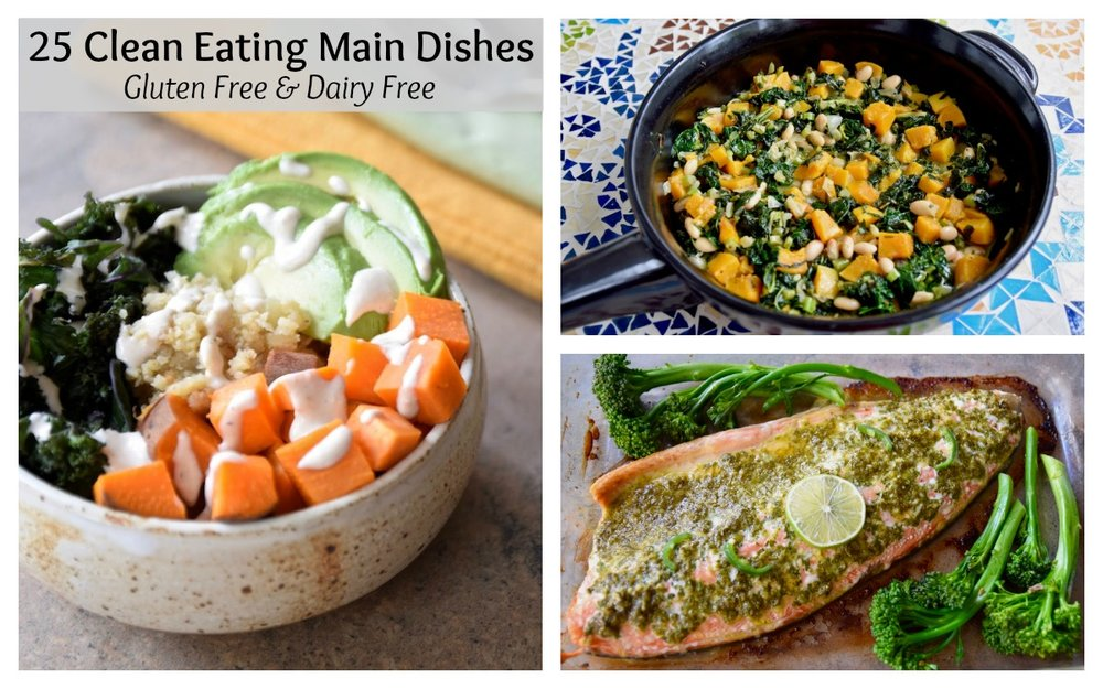 25 Clean Eating Main Dishes - gluten free, dairy free and free from refined sugar | TastingPage.com