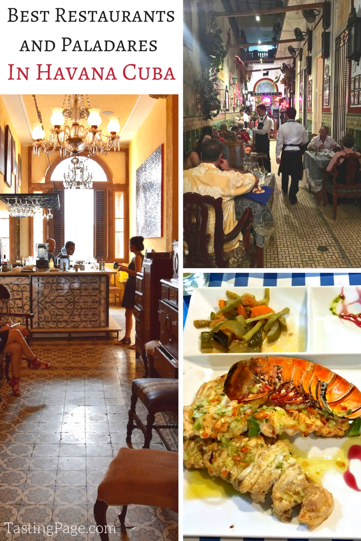 Best restaurants and paladares in Havana Cuba | TastingPage.com