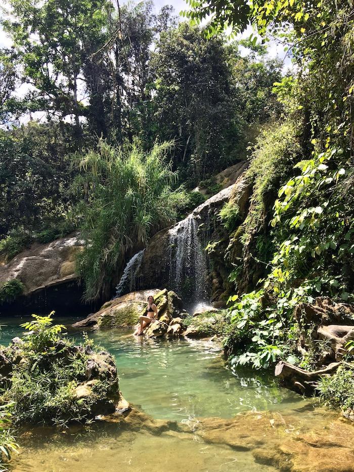 Cuba El Nicho waterfall.jpg