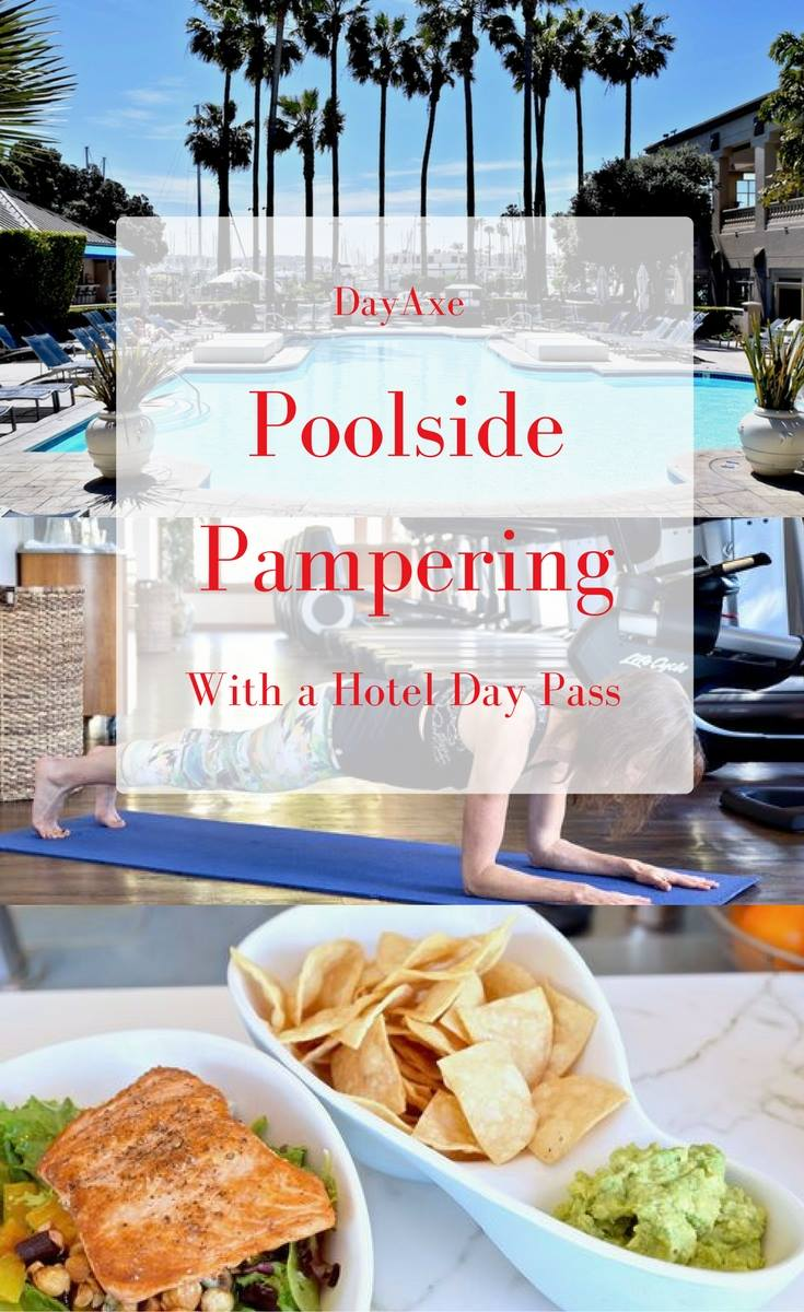 Poolside pampering with day axe - have a great staycation with a hotel day pass | TastingPage.com