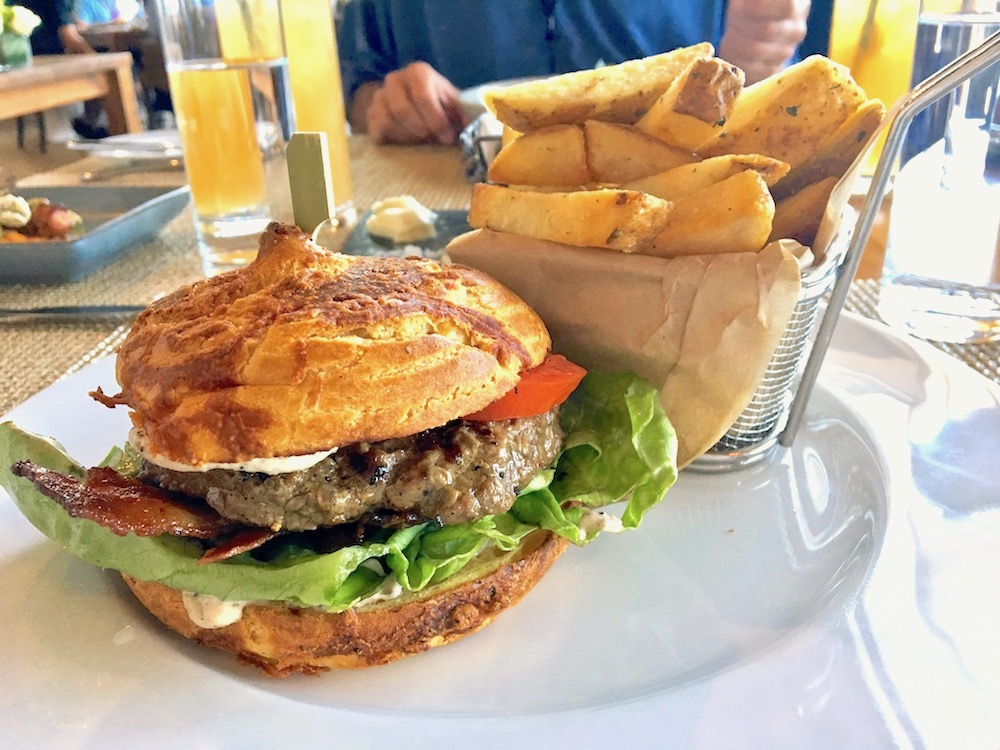 Burger at Restaurant 917 at the Porsche Driving Experience Center, Los Angeles CA | TastingPage.com