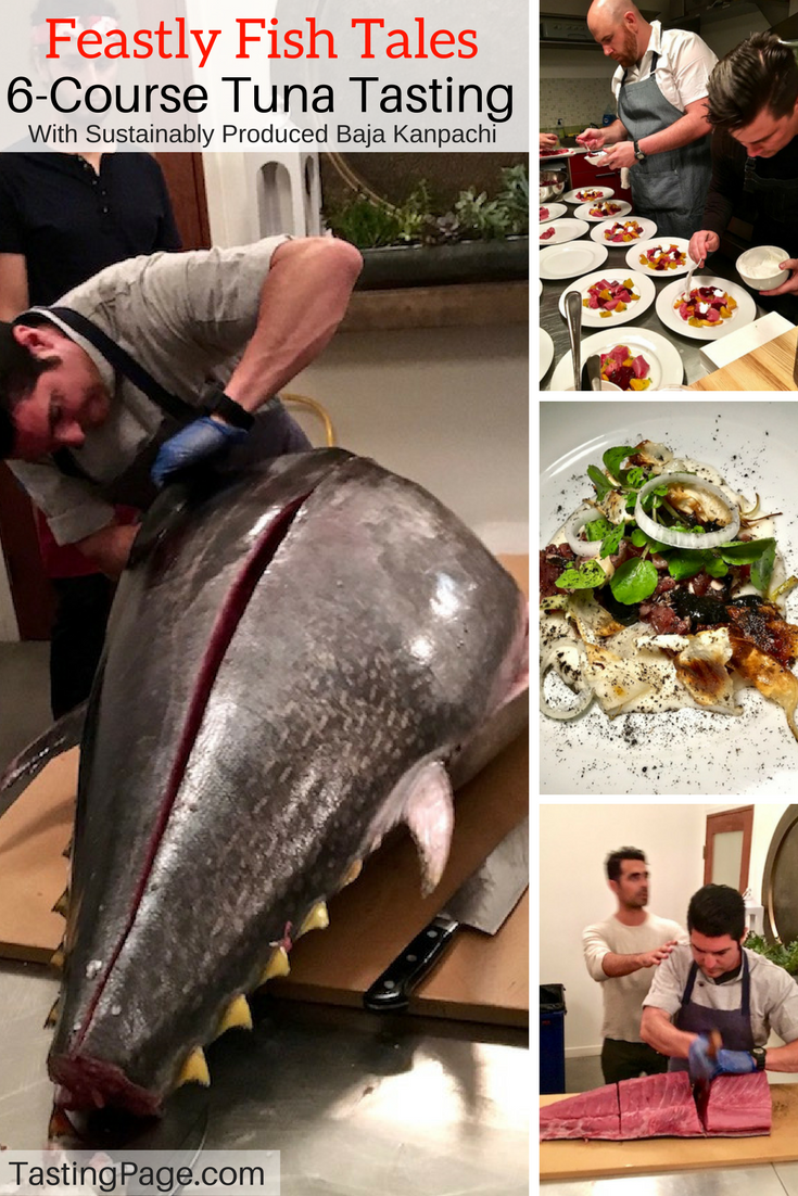 Feastly Fish Tales Tuna Dinner with responsibly produced Baja Kanpachani | TastingPage.com