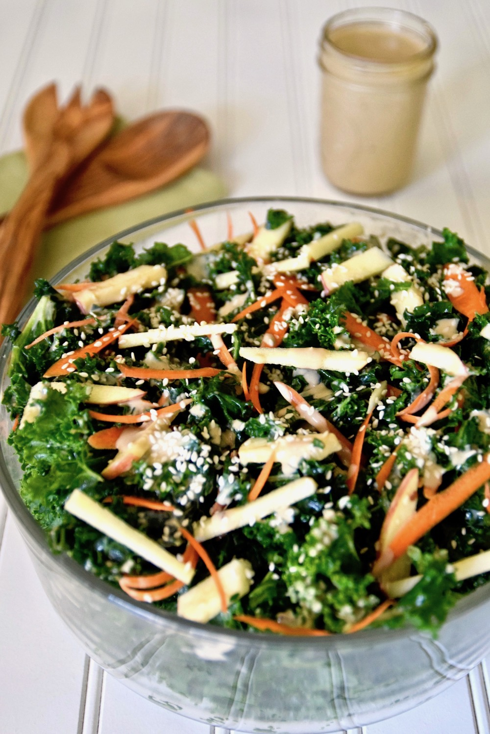 Thai kale salad with apple and coconut