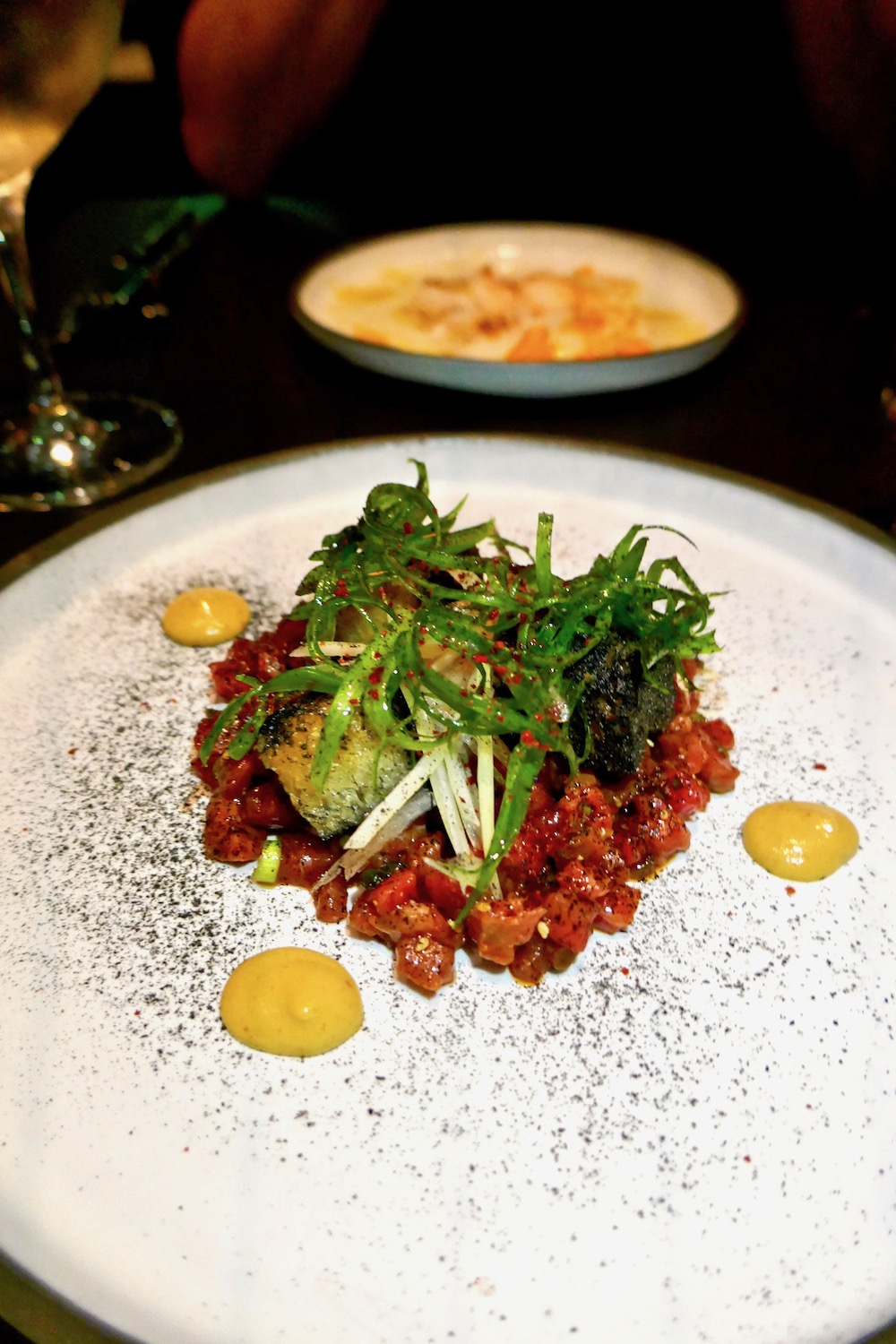 Native Restaurant  bison tartare and scallops.jpg