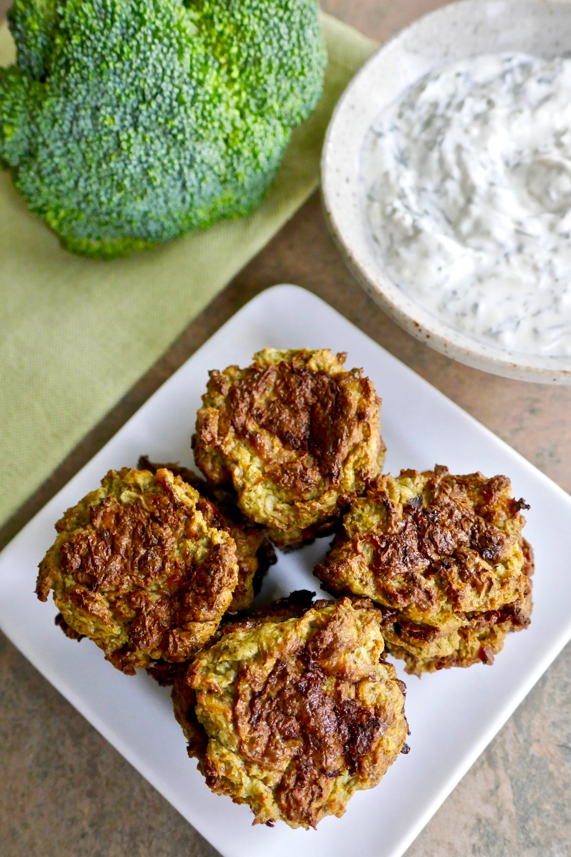 Paleo IP Broccoli Cauli fritters.jpgPaleo Broccoli-Cauli Sausage Tots - easy and fast recipe in the Instant Pot | TastingPage.com
