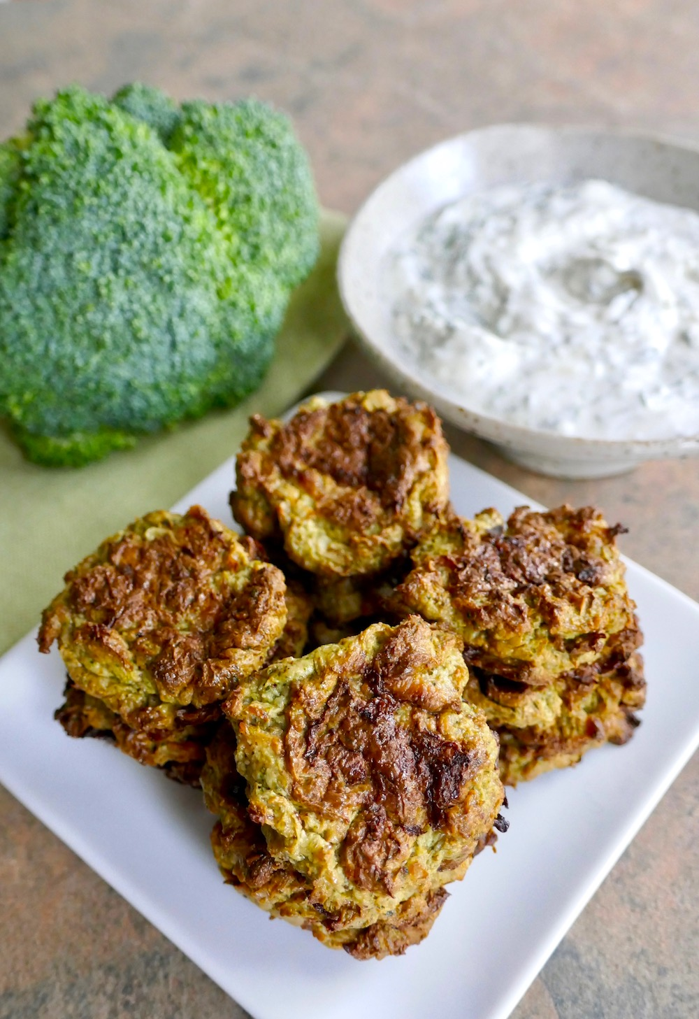 Paleo Broccoli-Cauli Sausage Tots - easy and fast recipe in the Instant Pot | TastingPage.com