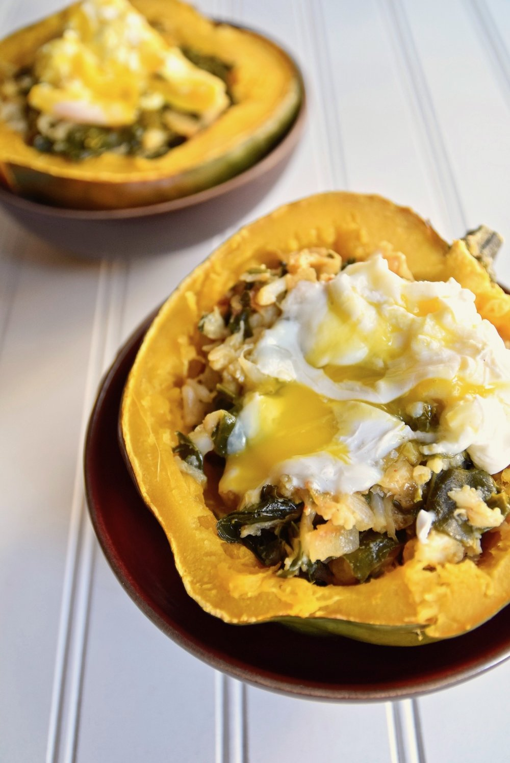 Dairy free squash breakfast bowl