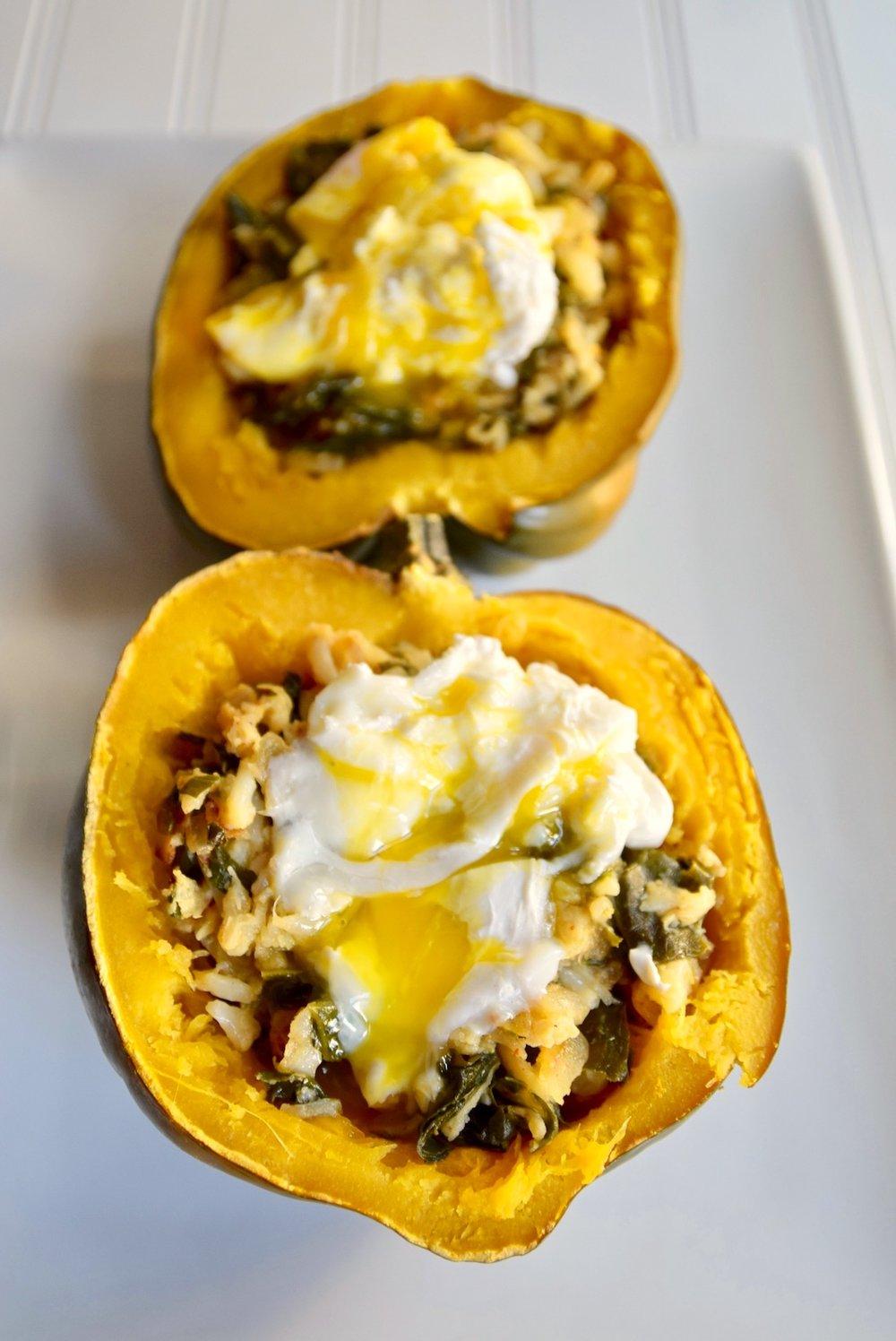 Squash breakfast bowl - paleo, gluten free, dairy free