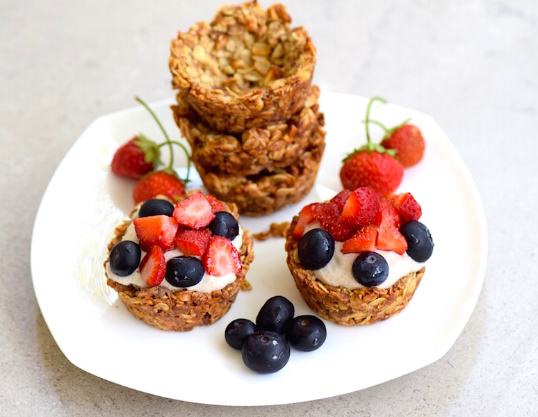 Make ahead granola cups