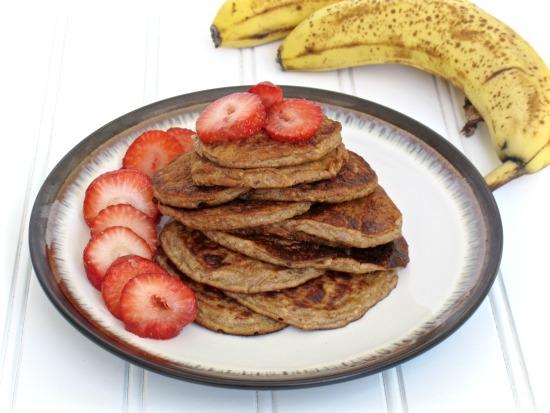 Banana Peanut Butter Pancakes